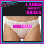 LADIES KNICKERS BRIEFS PERSONALISED BRIDESMAID HEN PARTY NIGHT FUNNY GIFT